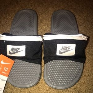 Nike Slides Benassi JDI Fanny Pack Size 10